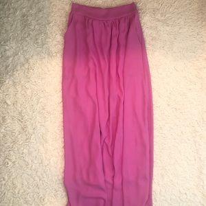 🆕NWT Orchid & Navy Fuchsia Maxi Skirt Size Small